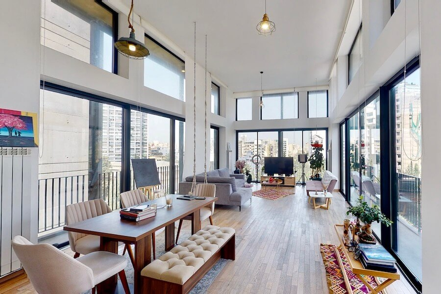 3-BR Luxury Loft with balconies in Achrafieh